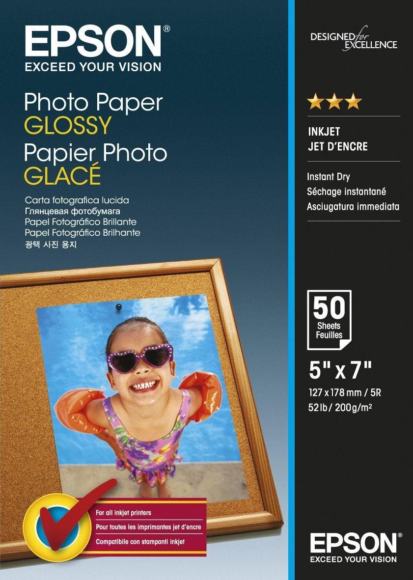 Фотобумага Epson, C13S042545, глянцевая, формат 13 x 18 см, 50 листов