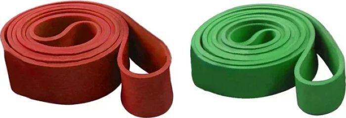 Эспандер-лента Iron People IR97660, силовая, зеленый, красный, фиолетовый, 208 х 10,1 45 см