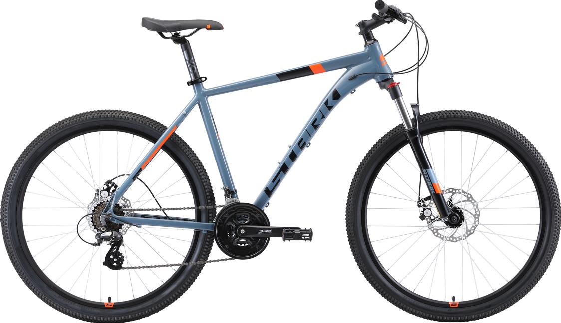 Велосипед STARK Router 27.3 D 2019 22 серый/чёрный/оранжевый