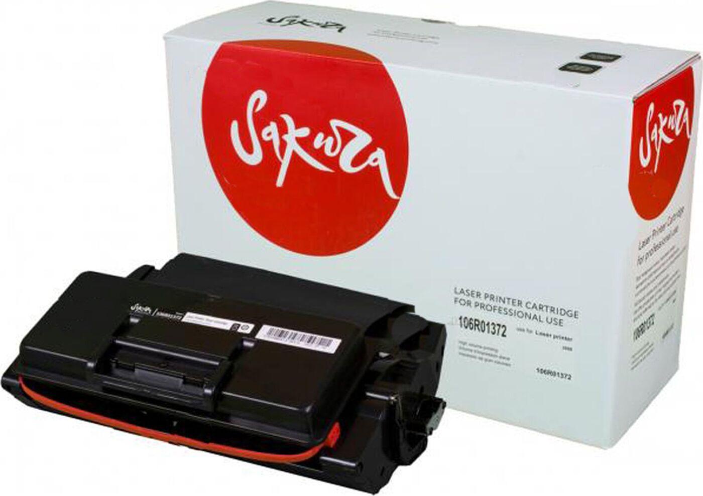 Картридж SAKURA 106R01372 для Xerox Phaser 3600 , черный, 20 000 к.