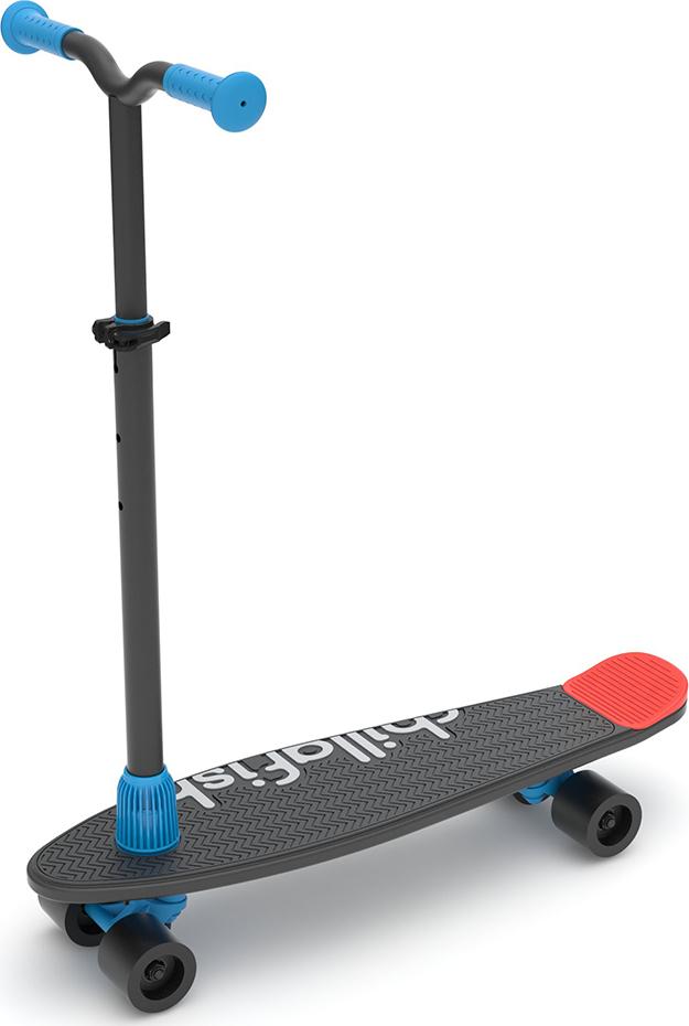 Детский скейтборд-самокат 2 в 1 Chillafish Skatie Skootie