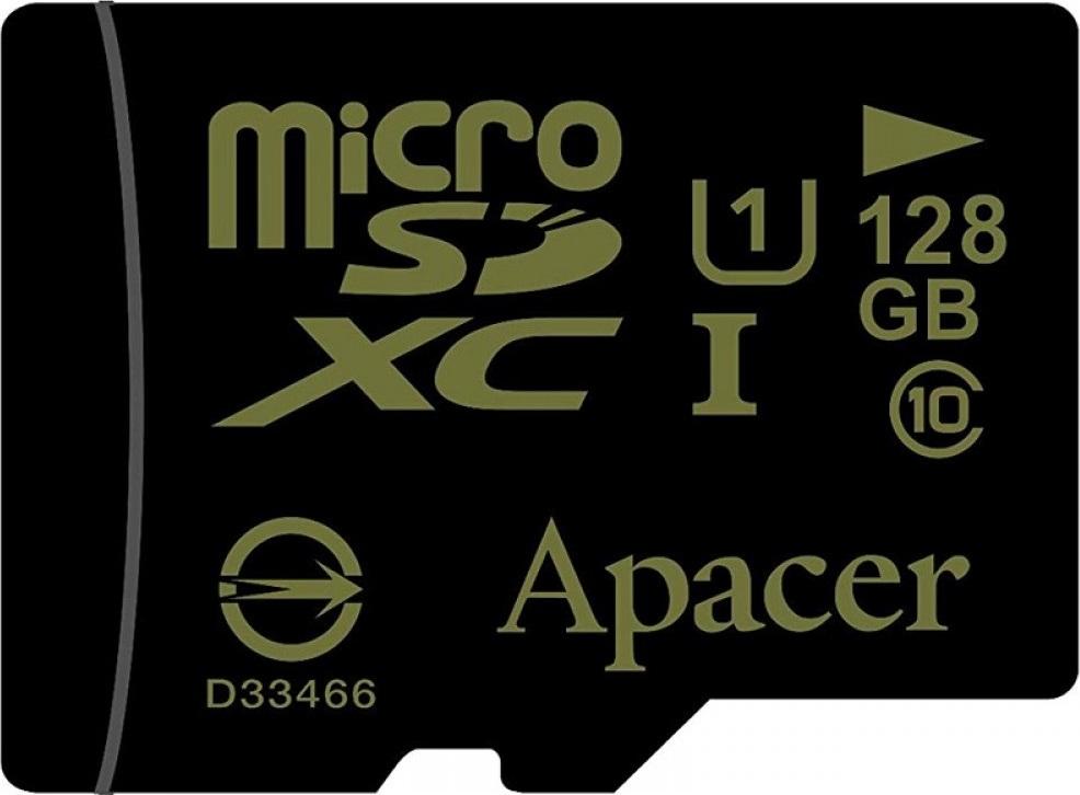 Карта памяти MicroSD 128GB Apacer Class 10 UHS-I без адаптера карта памяти защищена от записи microsd