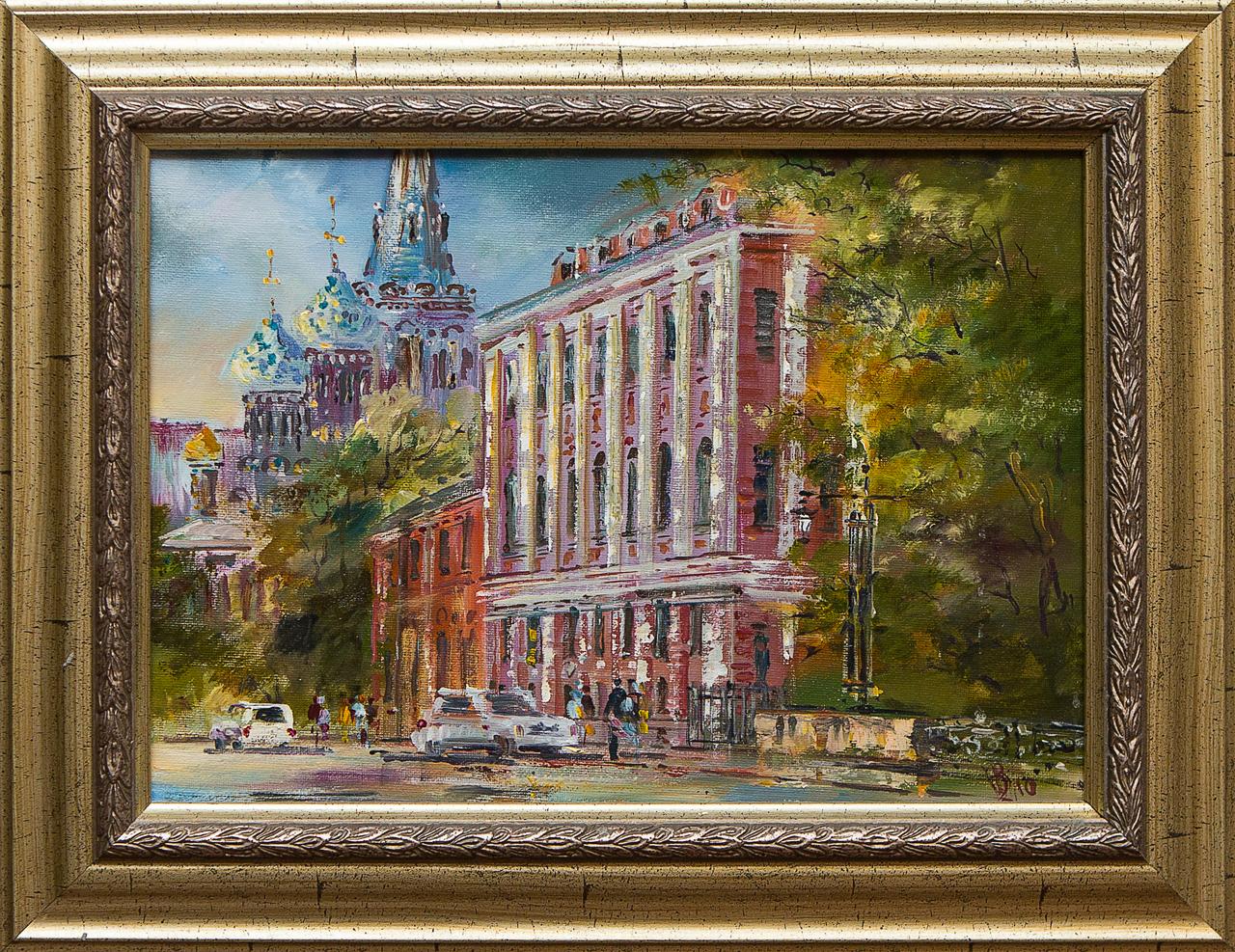 Картина маслом Исторический центр Шеренкова картина маслом город шеренкова
