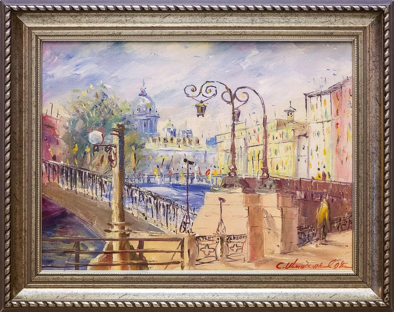 Картина маслом Матвеев мост Иванченков картина маслом казанский собор иванченков