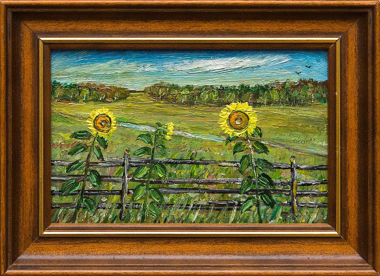 Картина маслом Семейка у околицы Мифтахов картина маслом подсолнухи мифтахов