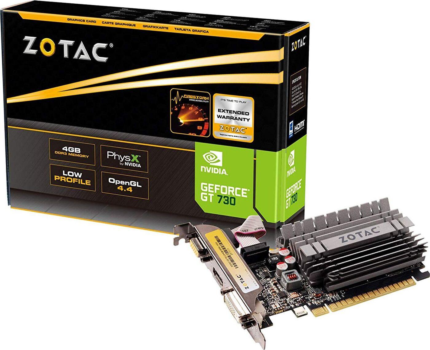 Видеокарта Zotac Zone Edition GeForce GT 730 4GB, ZT-71115-20L