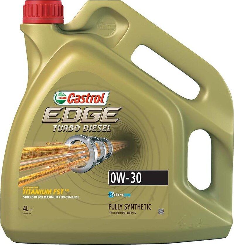 Моторное масло CASTROL EDGE Turbo Diesel Titanium FST, синтетическое, 0W-30, 4 л 157E5C
