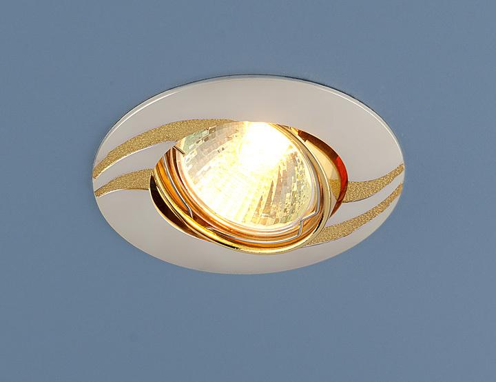Встраиваемый светильник Elektrostandard Точечный 8012 MR16 PS/GD, G5.3 встраиваемый светильник elektrostandard 104a mr16 ss gd сатин серебро золото 4607138143980