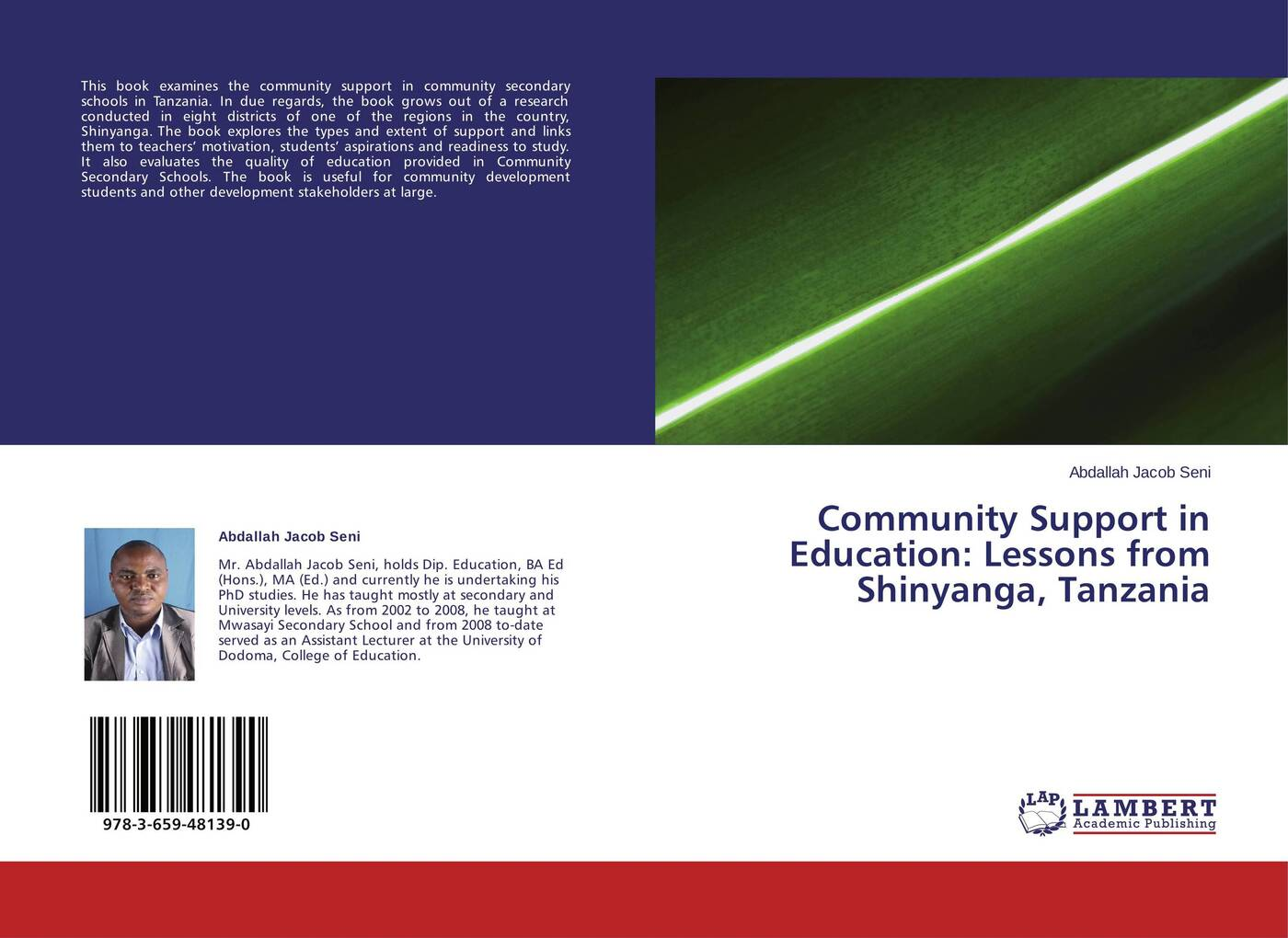 Abdallah Jacob Seni Community Support in Education: Lessons from Shinyanga, Tanzania mumper william norris a text book in physics for secondary schools