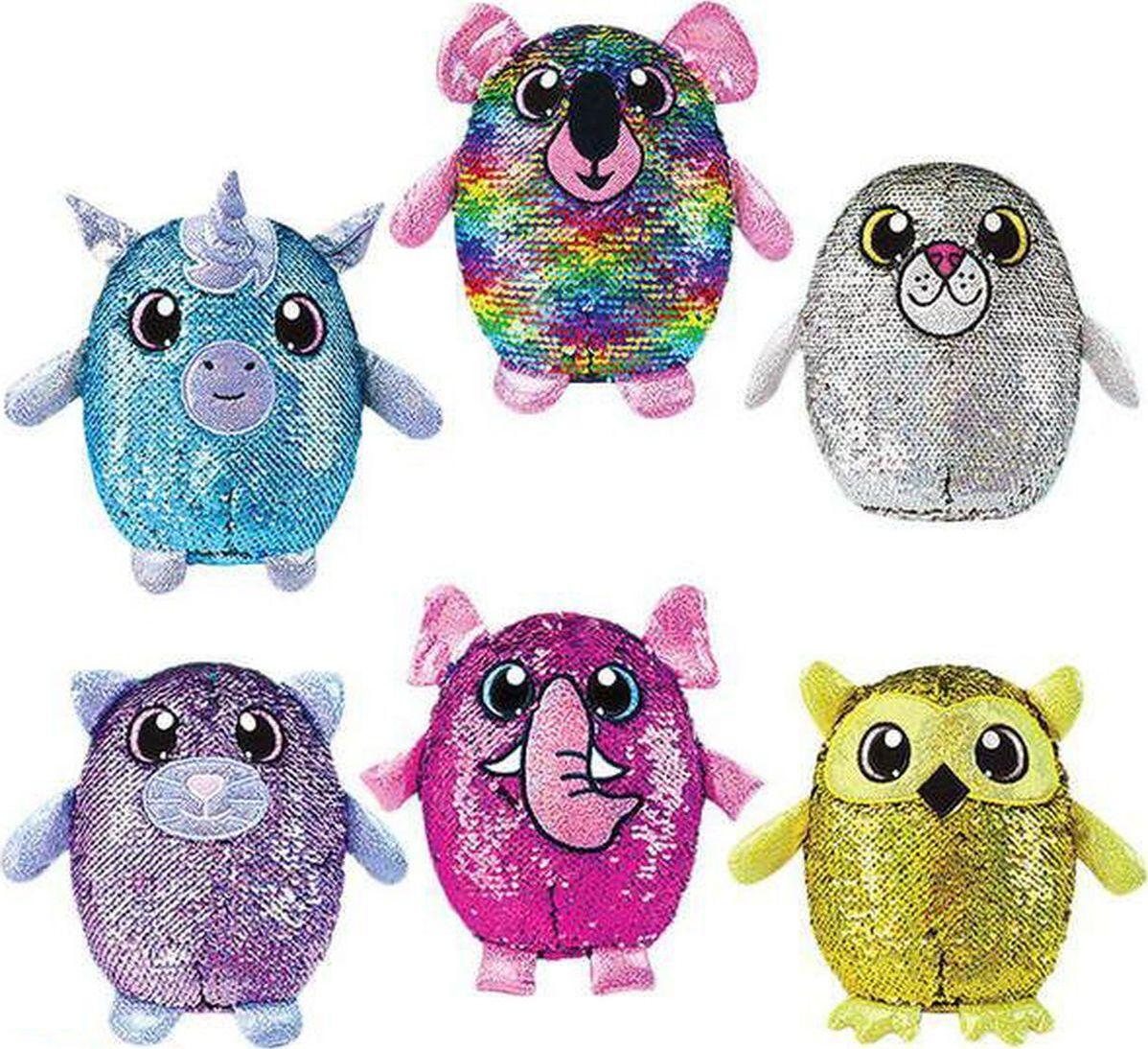 цены Мягкая игрушка Beverly Hills Teddy Bear Shimmeez Серия 2 в пайетках 19,2 см, SH01053, в ассортименте