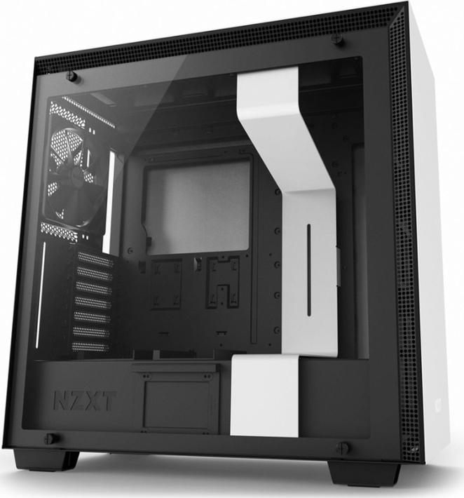 Компьютерный корпус NZXT H700, белый, черный корпус atx miditower nzxt h700 ca h700b br black red