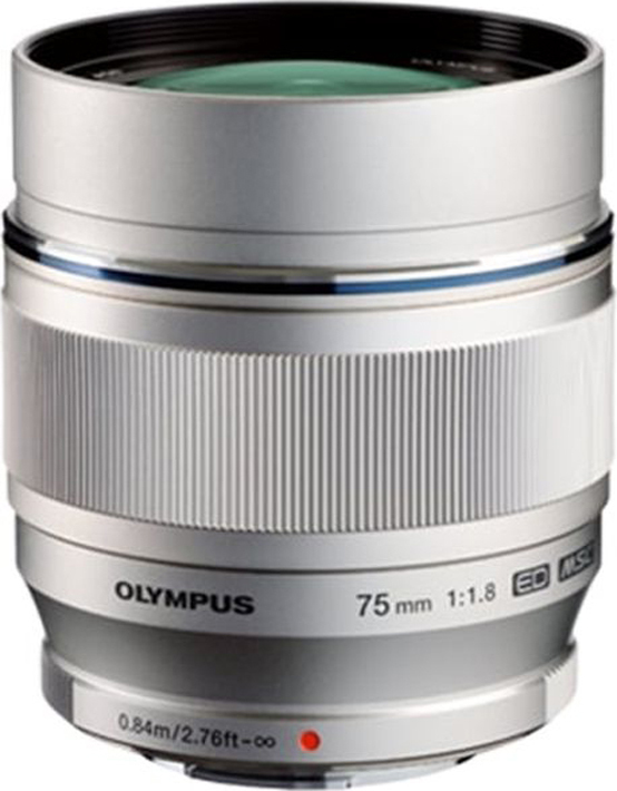 Объектив Olympus M.Zuiko Digital ED 75mm F1.8, серебристый
