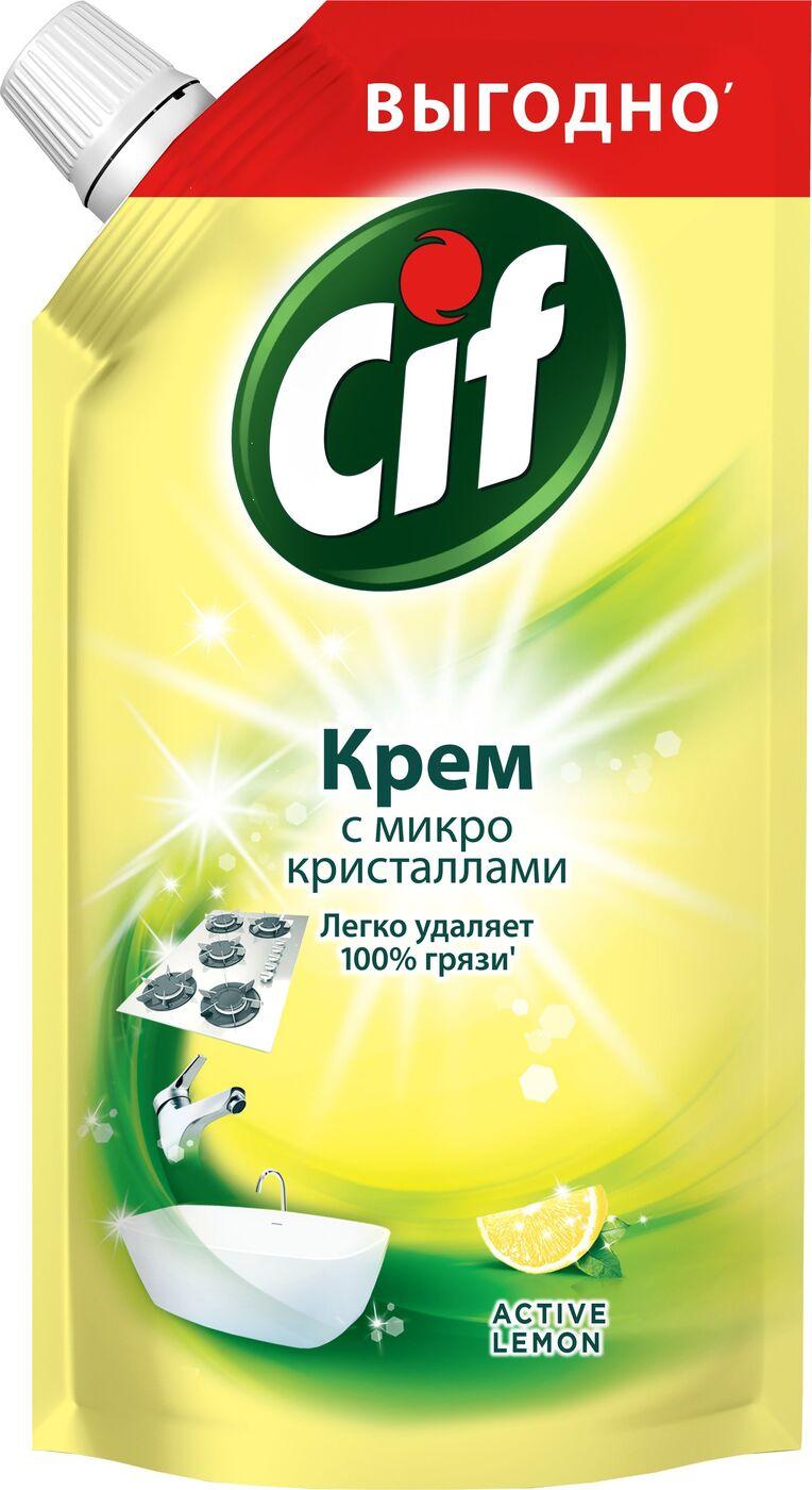 Универсальный чистящий крем Cif Актив. Лимон, 250 мл cif чистящий крем active fresh универсальный 250 мл