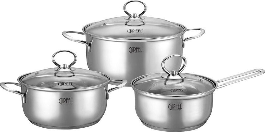 Набор посуды для приготовления Gipfel 0618 1.4 2.8 4.8 л