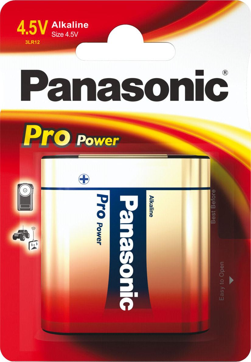 Батарейка Panasonic Pro Power 3LR12XEG/1B, 3RL12 щелочная