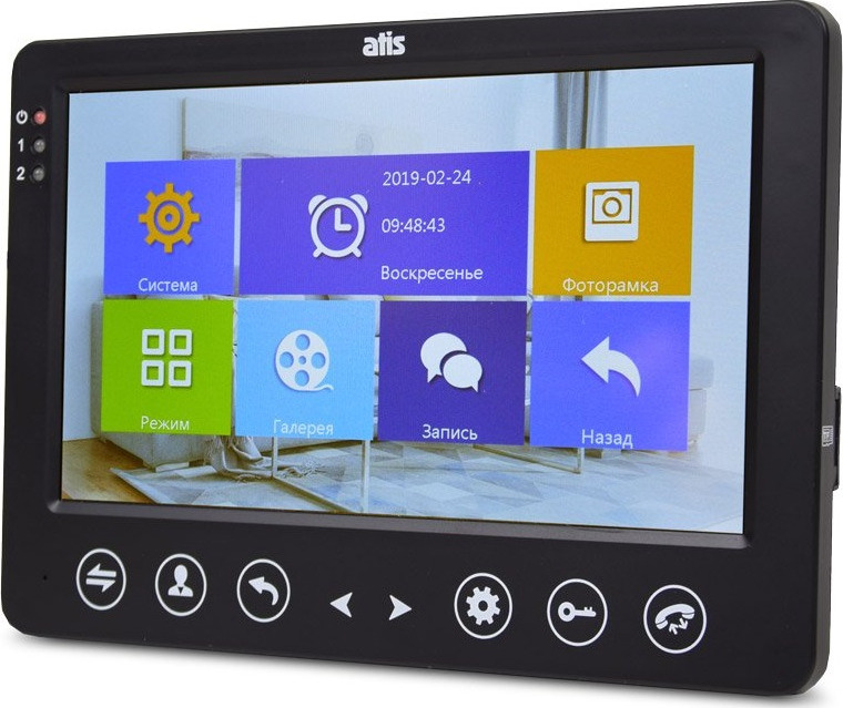 "Видеодомофон Atis AD-720HD Black Видеодомофон, цветной, сенсорный Экран 7"" TFT,разрешение 1024x600..."