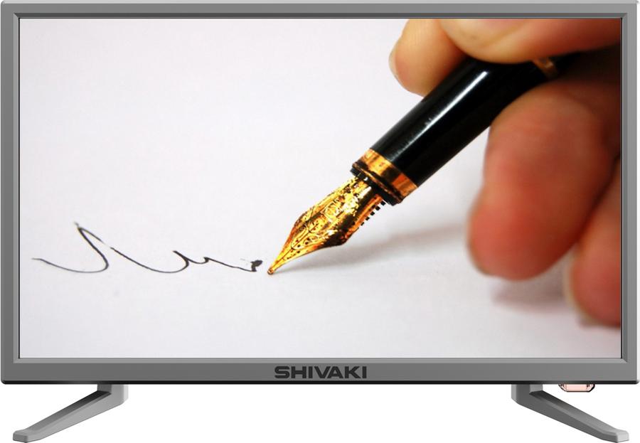 "Телевизор Shivaki STV-22LED25 22"", серый"