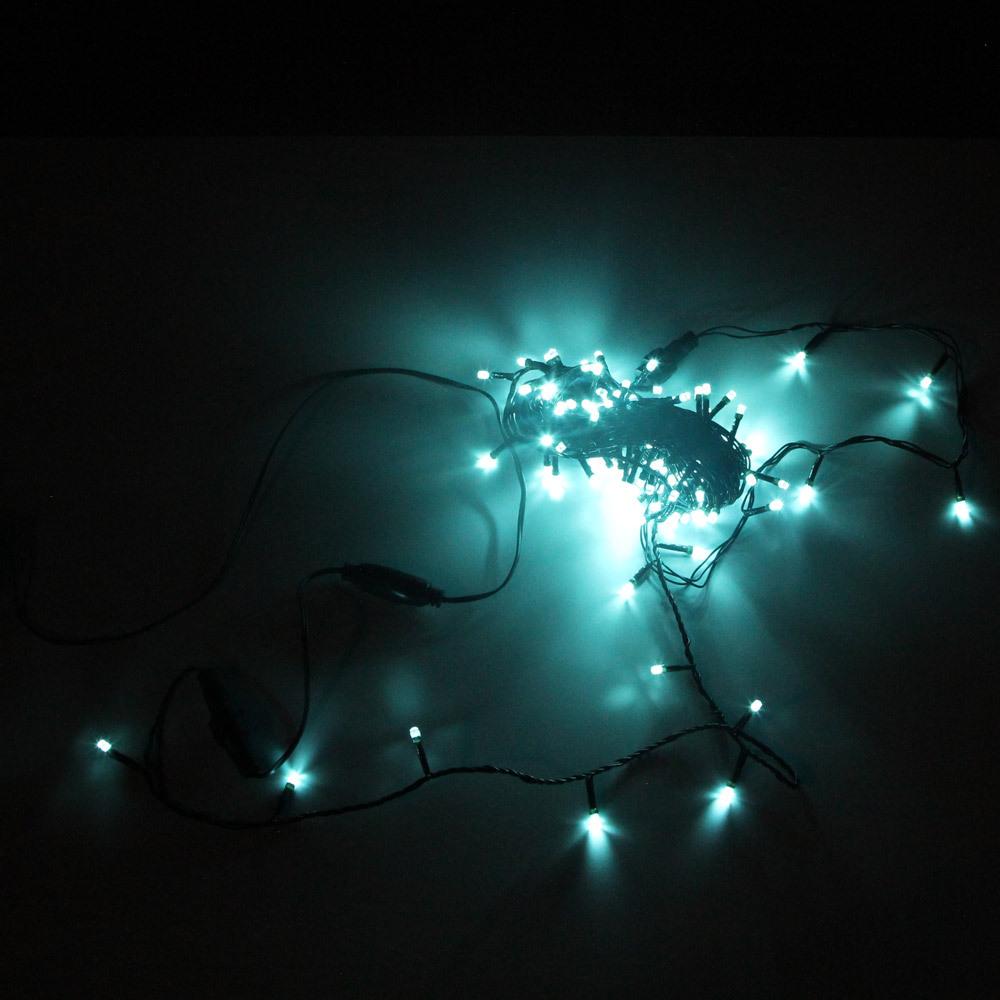 """Гирлянда-нить """"Кристалл"""" SH Lights DC-LD120-OG-E, 12 м, 120 светодиодов, цвет: аквамарин"""