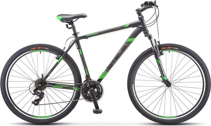 Велосипед Stels Navigator 900 V F010 Черный/зеленый 29 (LU092629), 19'