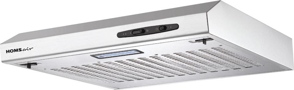Кухонная вытяжка HOMSair HORIZONTAL 60 НЕРЖАВЕЙКА Особенности Алюминиевый фильтр находится за декоративной решеткой...