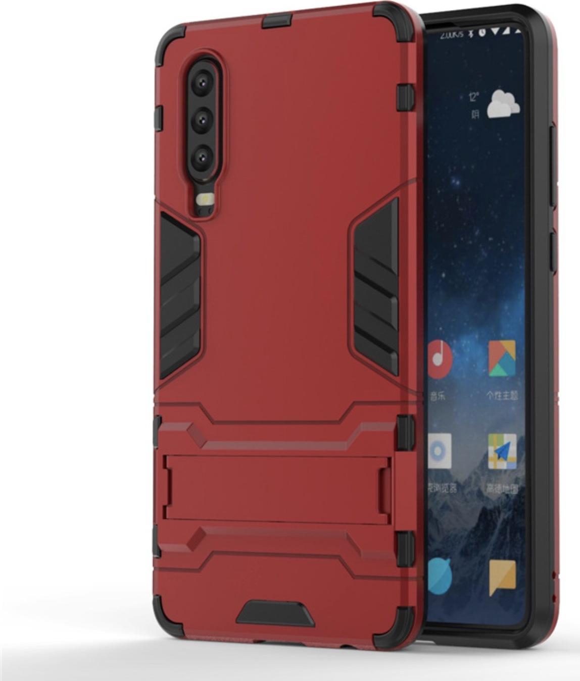 Чехол-бампер MyPads для Huawei Y5 2019/Huawei Honor 8S противоударный усиленный ударопрочный красный