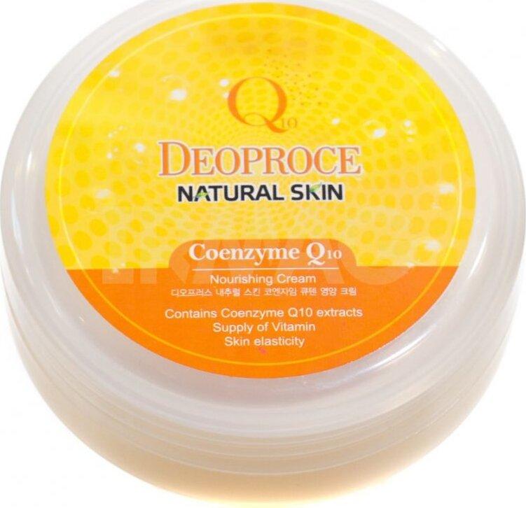 Питательный кремдля лица и тела с коэнзим  DEOPROCE SKIN COENZYME Q10 NOURISHHING CREAM Natural Skin Coenzyme Q10 Nourishing Cream.Крем лица тела...