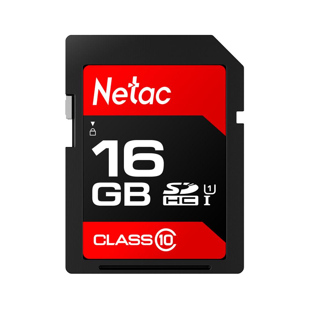 Карта памяти Netac P600 SDHC / SDXC UHS-I Class 10 U1 Высокая скорость 80 МБ / с 16 ГБ для зеркальной камеры и DV