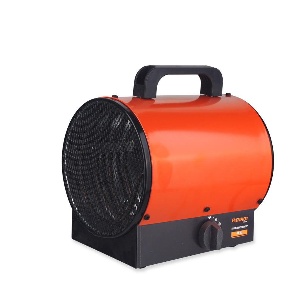 Тепловентилятор электрический PATRIOT PT-R 2,  230В, нерж.ТЭН, шнур с евровилкой.