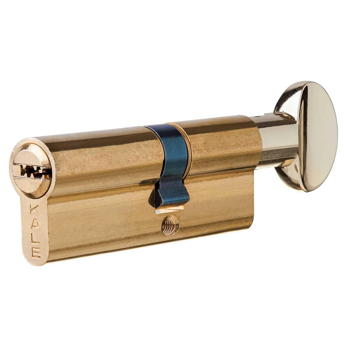 Цилиндр 164SM-80-C-BP, 40х30 мм, ключ/вертушка, цвет золото
