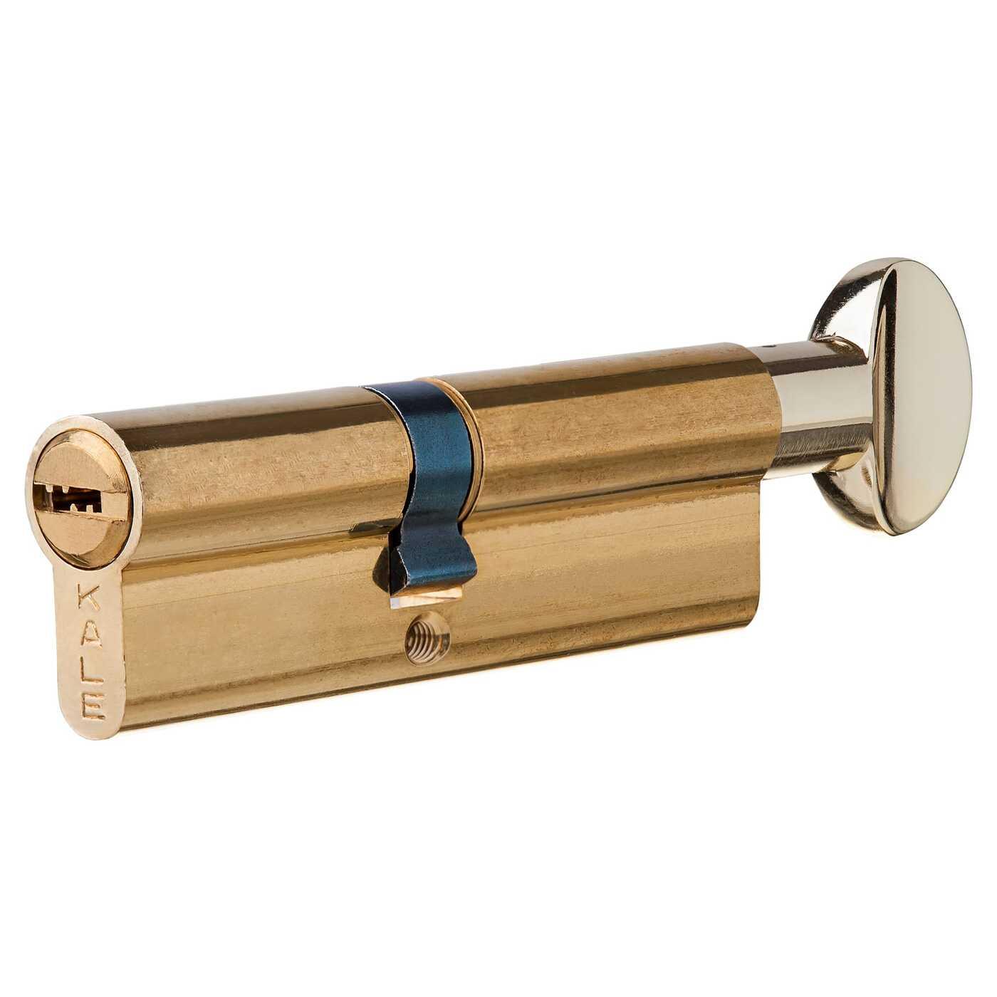 Цилиндр 164BM-100-C-BP, 40х50 мм, ключ/вертушка, цвет золото