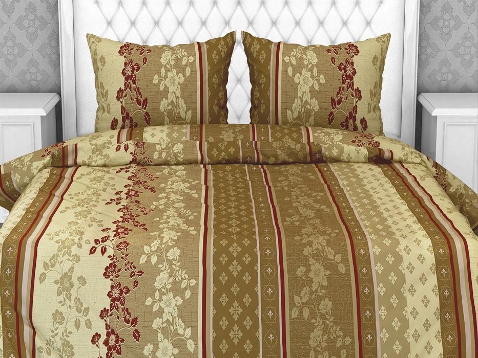 Комплект постельного белья Галтекс Орнамент с цветами 2-х спальный, Бязь, наволочки 70x70