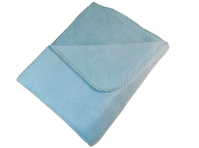 Плед 130x160 см флис цвет голубой-21108