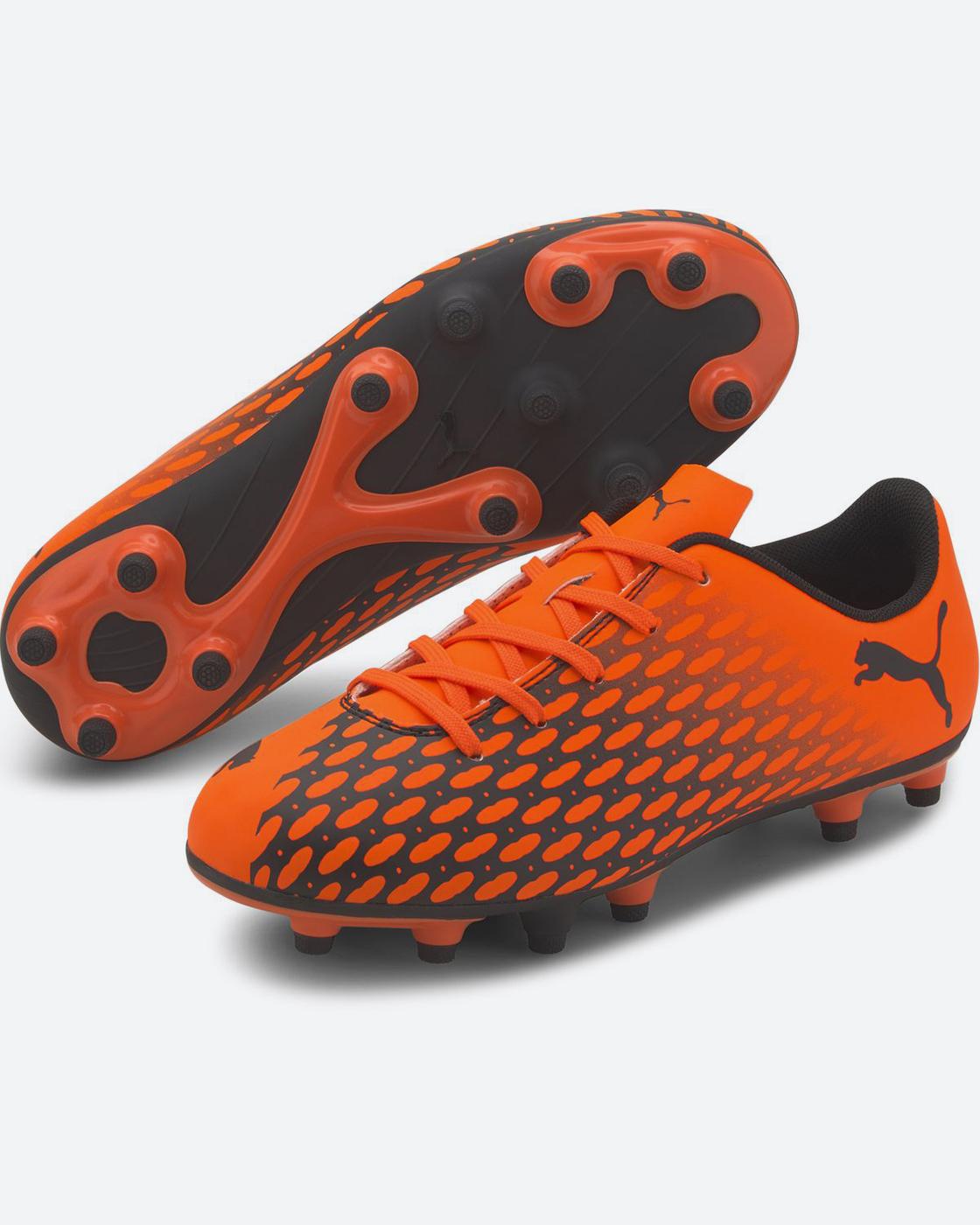 Бутсы Puma Spirit III FG Jr, цвет: оранжевый, черный.10607006. Размер 32