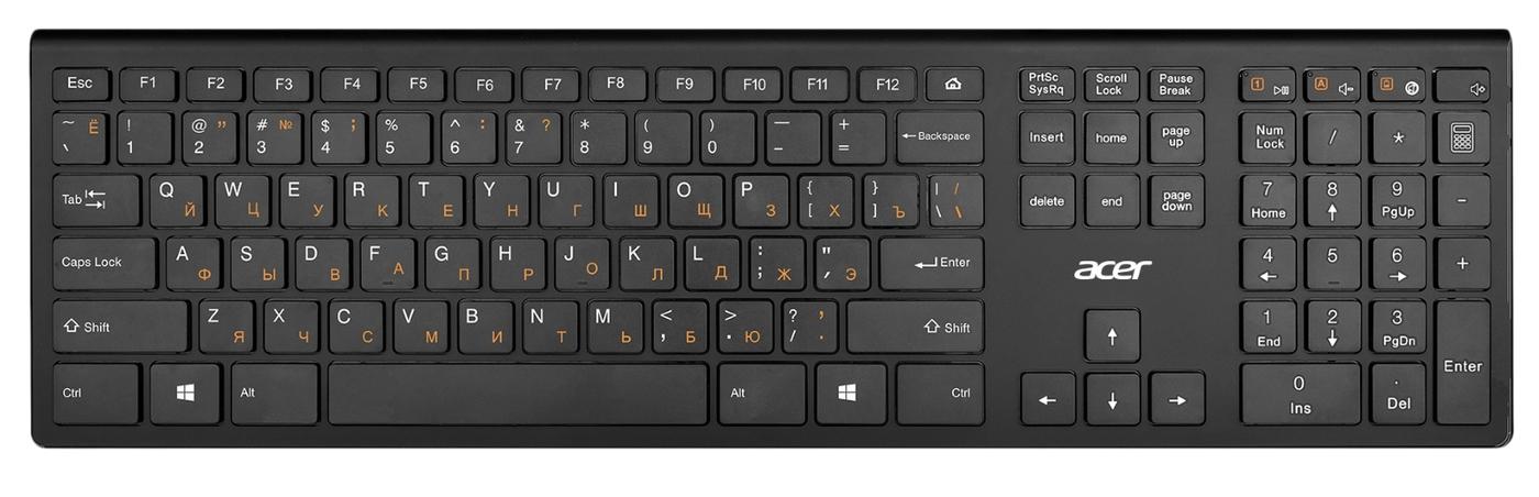 Мембранная клавиатура Acer OKR020, черный цвет купить по низкой цене: отзывы, фото, характеристики в интернет-магазине Ozon