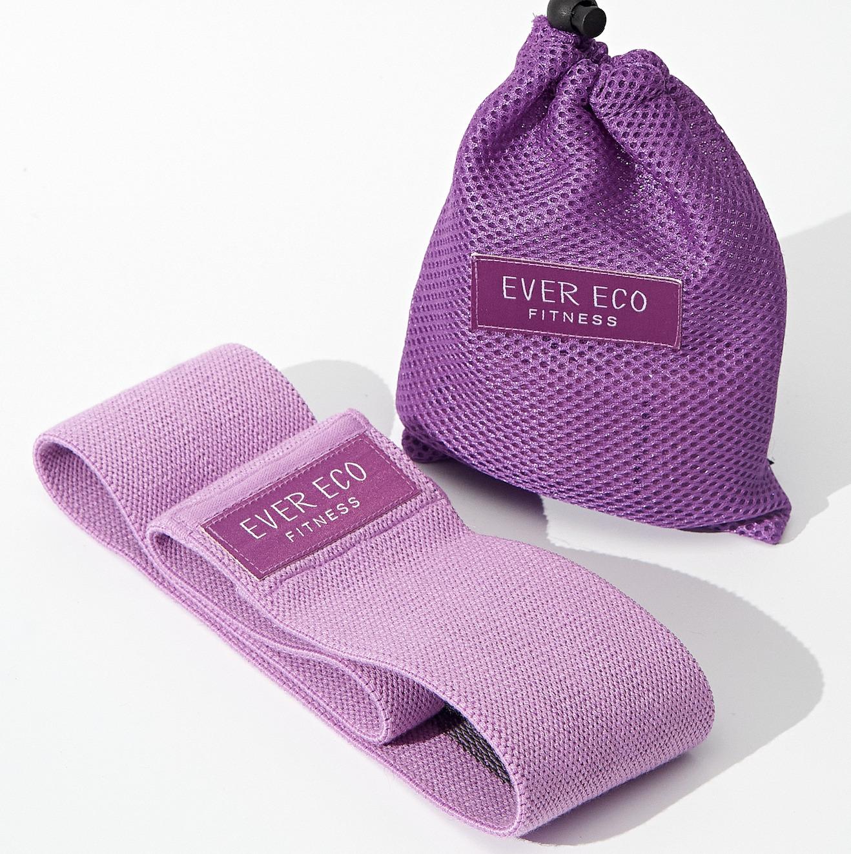 Резинка для фитнеса тканевая, эспандер из трикотажного полотна в мешочке Ever Eco