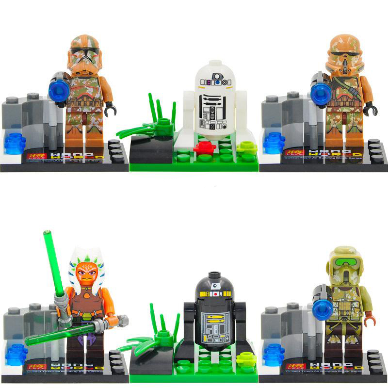 Набор PRCK 6 фигурок Асока Тано Звездные войны 79025