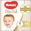 Huggies Подгузники Elite Soft 8-14 кг ( размер 4) 66 шт - изображение