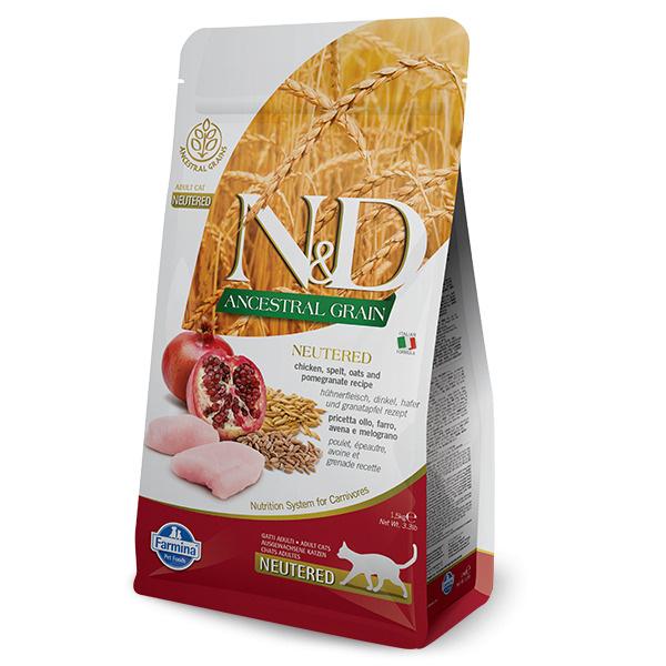 Сухой корм Farmina N&D Ancestral Grain Chicken & Pomegranate Adult Neutered, для взрослых стерилизованных/кастрированных #1