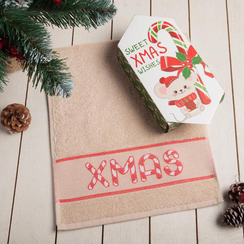 Полотенце для лица, рук Этель Christmas, Махровая ткань, 30x70 см,  #1
