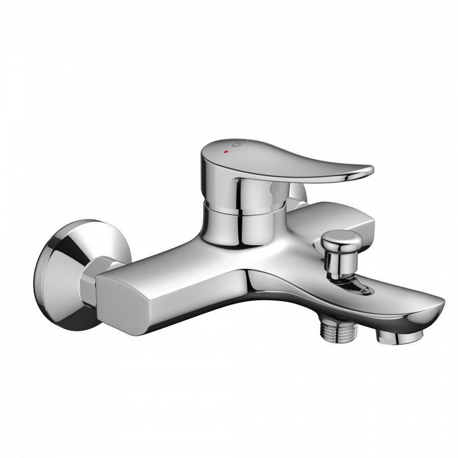 Смеситель для ванны и душа Dorff Ultra D5010000 излив 154 мм, увеличенный керамический картридж 40 мм, #1