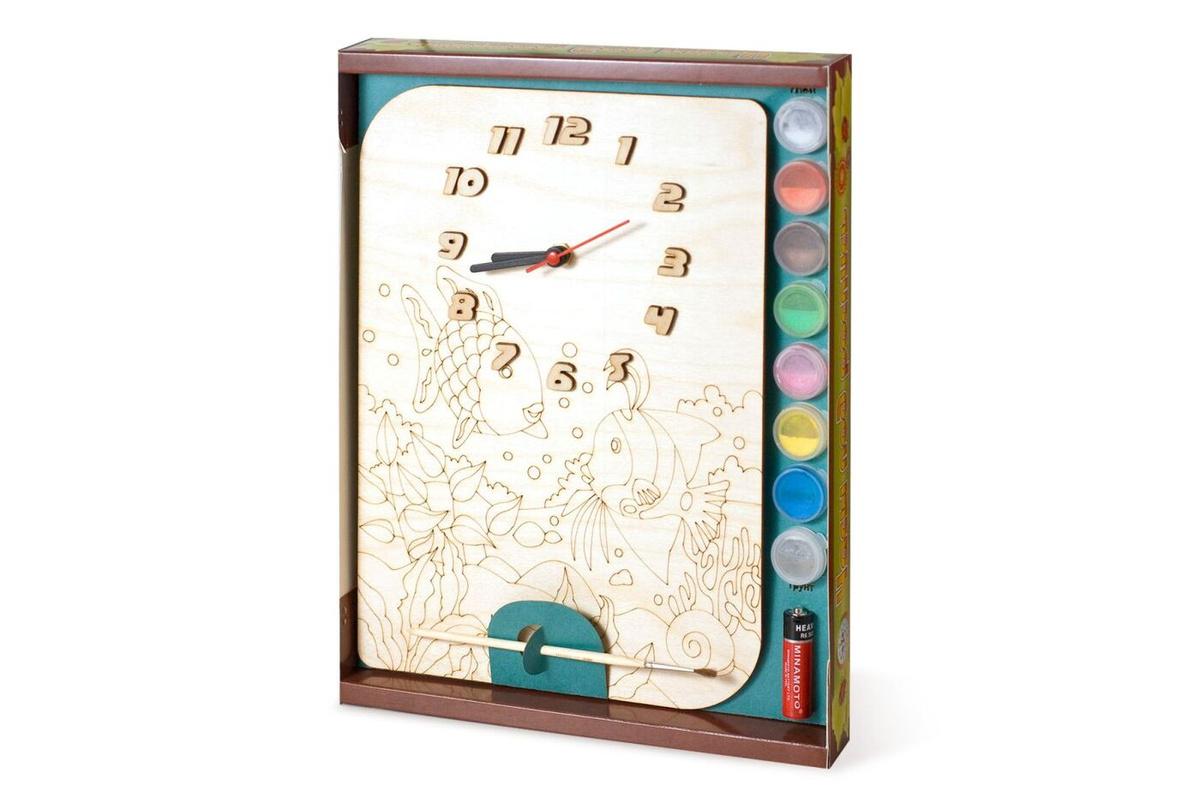 Часы под роспись Нескучные игры Рыбки #1
