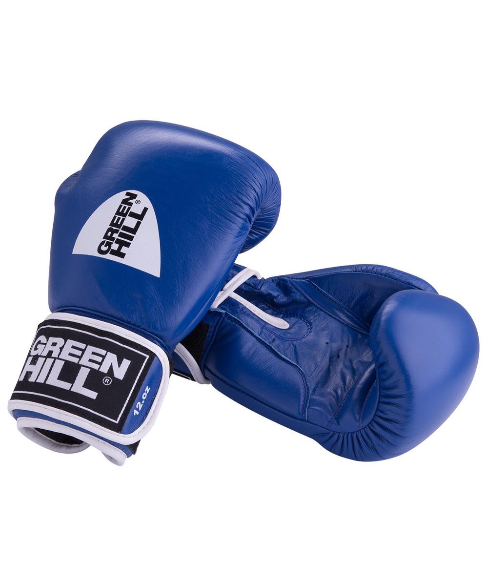 Перчатки боксерские Green Hill GYM синие BGG-2018, 8oz, кожа, синие #1