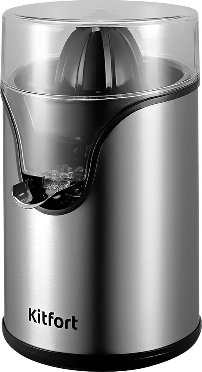 Соковыжималка Kitfort КТ-1119, серый металлик #1