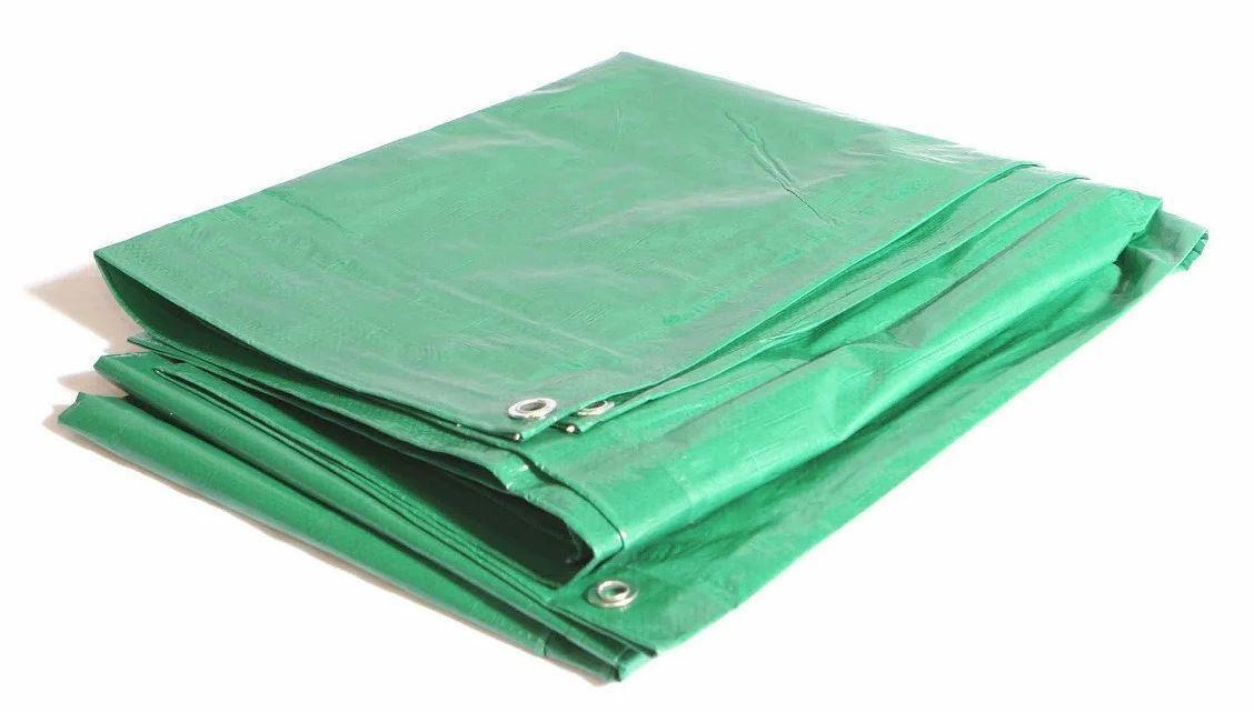 Тент универсальный с люверсами зеленый (4 м х 8 м), плотность 70 г/м2, водонепроницаемый  #1