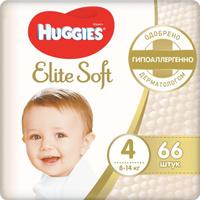 Huggies Подгузники Elite Soft 8-14 кг ( размер 4) 66 шт. Наши лучшие предложения