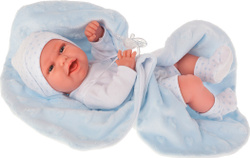 Кукла виниловая Antonio Juan младенец Эва на голубом одеяльце, 33 см. КУКЛЫ ИЗ ИСПАНИИ