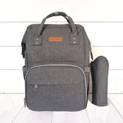 Рюкзак для мамы с USB портом Lequeen темно-серый