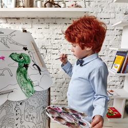 """Домик из картона, большая детская раскраска """"ДиноДомик"""". Яркие скидки!"""