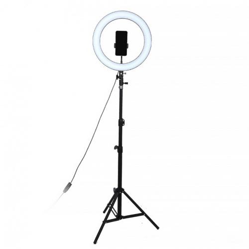 Кольцевая светодиодная лампа Cosmo 26 см для профессиональной съемки LED  Ring Fill Light 120 LED, VIP+ с 2 штативами (2 метра и 12 см), и пультом  Bluetooth — купить в интернет-магазине OZON с быстрой доставкой