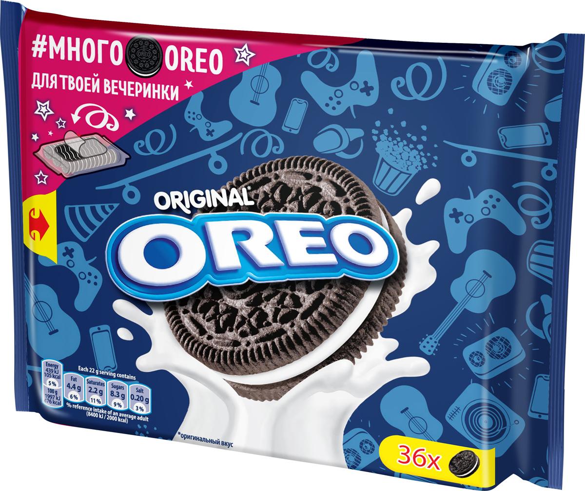 Печенье Oreo, с какао и начинкой ванильным вкусом, 396 г
